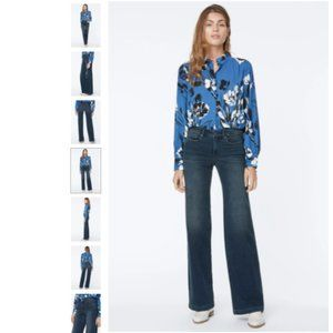 NYDJ Teresa Wide Leg 70's Flare Jeans Size 8